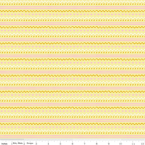 Easter Egg Hunt Yellow Geo Yardage by Natalia Juan Abello for Riley Blake Designs