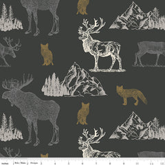 Timberland Charcoal Main Yardage by Riley Blake Designs