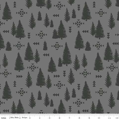 Timberland Gray Trees Yardage by Riley Blake Designs