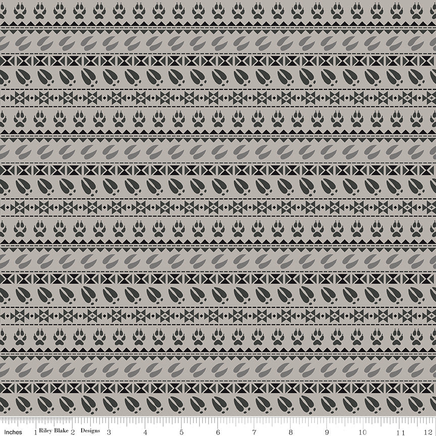 Timberland Light Gray Stripe Yardage by Riley Blake Designs