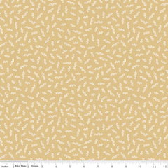 Gingham Gardens Gold Stems Yardage by My Mind's Eye for Riley Blake Designs