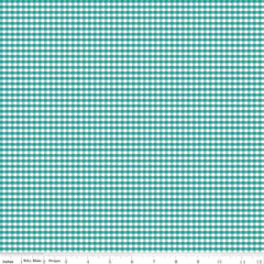 "1/8"" Small Teal Gingham Yardage by Riley Blake Designs"