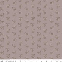 Bee Basics Pewter Heart Yardage by Lori Holt for Riley Blake Designs