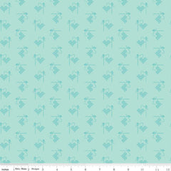 Bee Basics Songbird Heart Yardage by Lori Holt for Riley Blake Designs