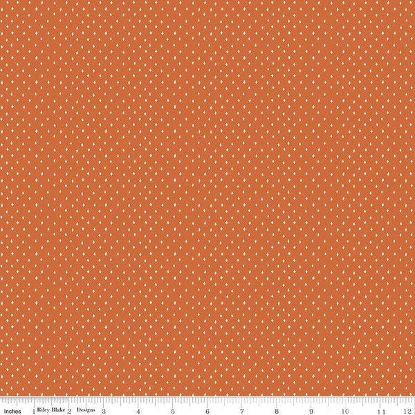 Varsity Orange Diamonds Yardage by Deena Rutter for Riley Blake