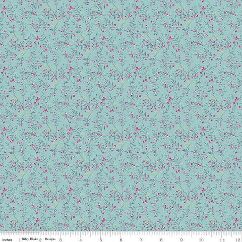 Someday Aqua Vines yardage by Minki Kim for Riley Blake Designs