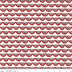 Celebrate America Cream Banners Yardage by Echo Park Paper Co. for Riley Blake Designs