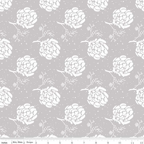 Serenade Gray Floret yardage by Cyndi Walker for Riley Blake Designs