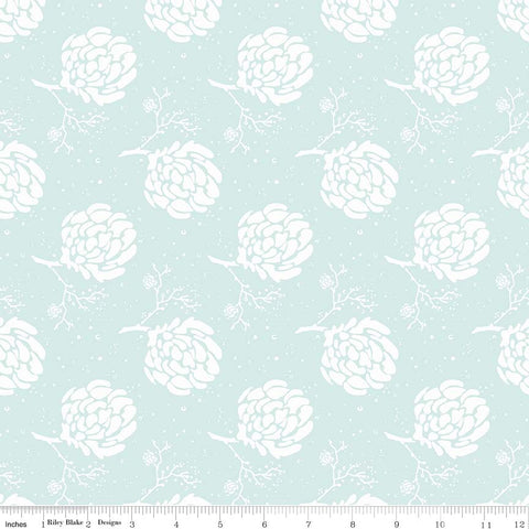 Serenade Mint Floret yardage by Cyndi Walker for Riley Blake Designs