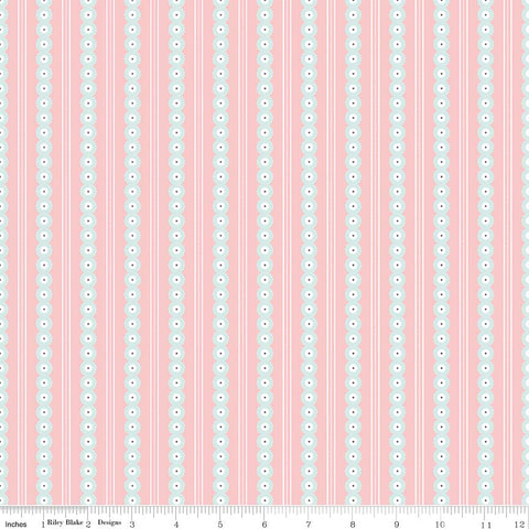 Serenade Blush Stripe yardage by Cyndi Walker for Riley Blake Designs