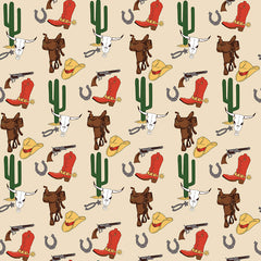 Cowboy Country Cream Gear Yardage by Carta Bella for Riley Blake
