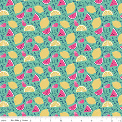I'd Rather Be Glamping Mint Fruit Yardage by Dani Mogstad for Riley Blake Designs