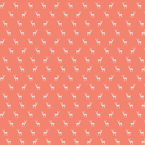 Golden Days Coral Deer Yardage by Fancy Pants Designs for Riley Blake Designs