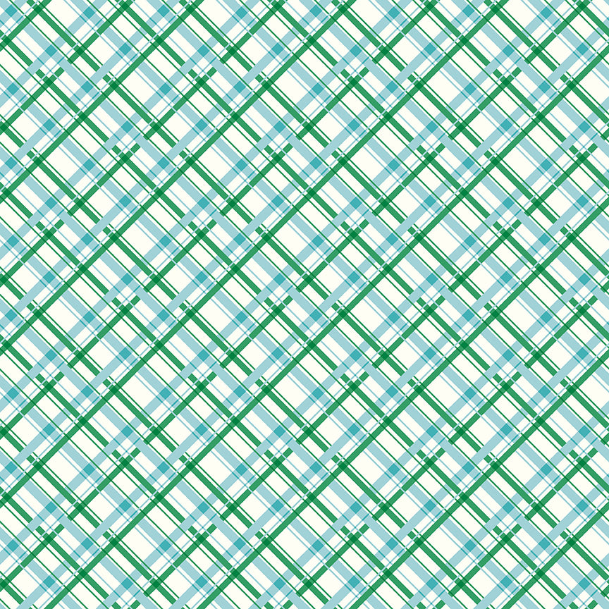 Sugarhouse Park Aqua Plaid Yardage by Amy Smart for Riley Blake Designs