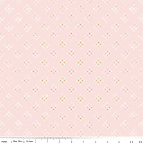 Charmed Pink Criss Cross yardage by Cyndi Walker for Riley Blake Designs
