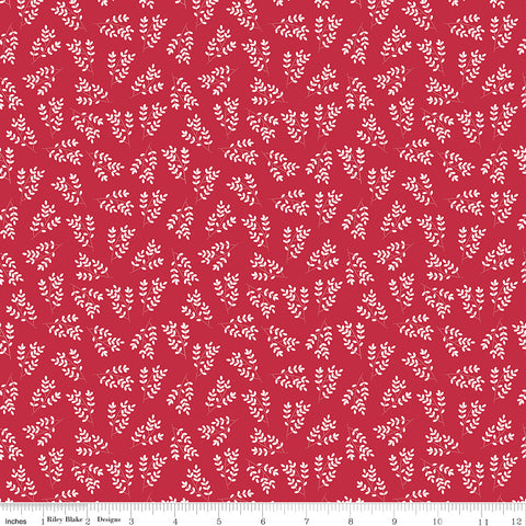 Singing In The Rain Red Stems Yardage by Beverly McCullough for Riley Blake