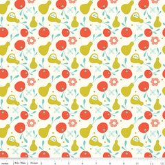On The Bright Side Cream Fruit Yardage by Sandy Gervais for Riley Blake