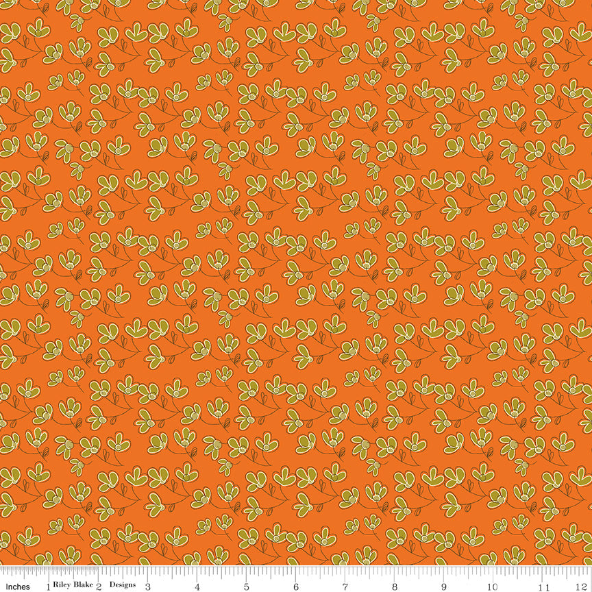 Give Thanks Orange Blossoms yardage by Sandy Gervais for Riley Blake Designs