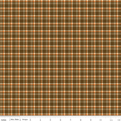 Give Thanks Brown Plaid yardage by Sandy Gervais for Riley Blake Designs