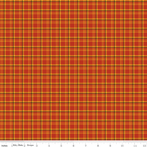Give Thanks Red Plaid yardage by Sandy Gervais for Riley Blake Designs