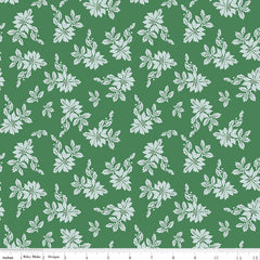 Santa Claus Lane Green Poinsettias Yardage by Melissa Mortenson for Riley Blake Designs