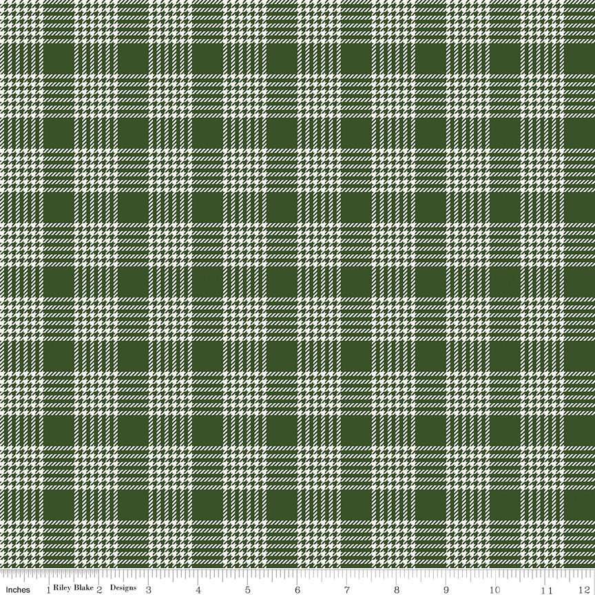 Yuletide Green Plaid yardage by My Mind's Eye for Riley Blake Designs