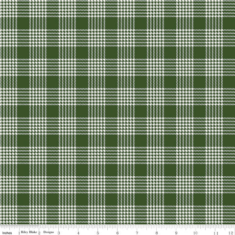 Yuletide Green Plaid yardage by My Mind