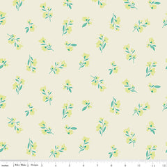 Midsummer Meadow Cream Blossom Yardage by Katherine Lenius for Riley Blake Designs