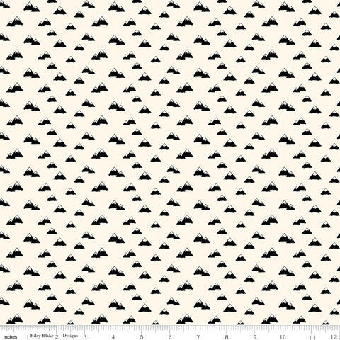 Wild At Heart Cream Mountains Yardage by Lori Whitlock for Riley Blake Designs