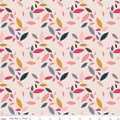 Golden Aster Cream Leaves Yardage by Gabrielle Neil for Riley Blake Designs
