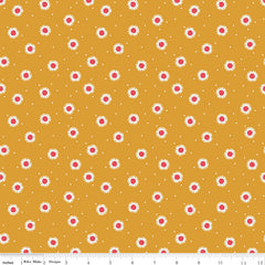 Golden Aster Mustard Daisy Yardage by Gabrielle Neil for Riley Blake Designs