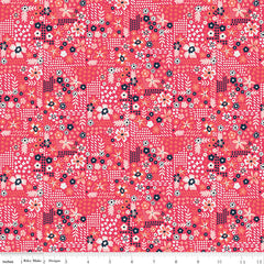 Golden Aster Dark Pink Garden Yardage by Gabrielle Neil for Riley Blake Designs
