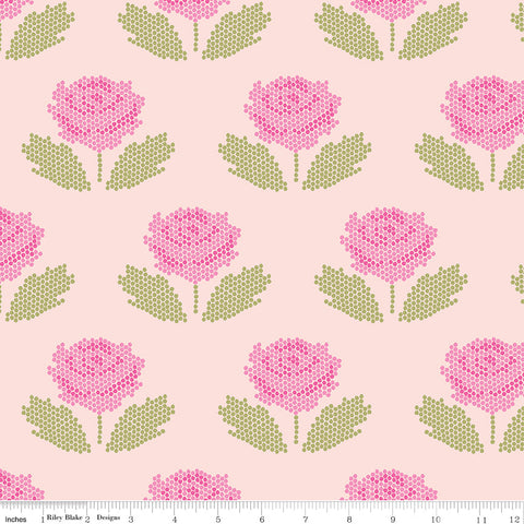 New Dawn Blush Stitch Yardage by Citrus & Mint for Riley Blake Designs
