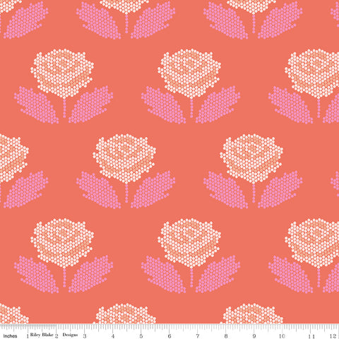 New Dawn Coral Stitch Yardage by Citrus & Mint for Riley Blake Designs