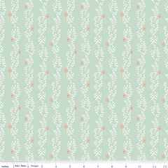 New Dawn Mint Clover Stripe Yardage by Citrus & Mint for Riley Blake Designs