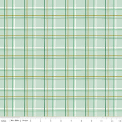 New Dawn Mint Plaid Yardage by Citrus & Mint for Riley Blake Designs