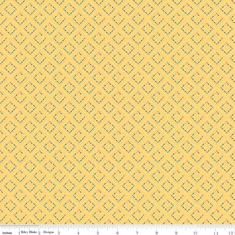 Idyllic Yellow Pavement Yardage by Minki Kim for Riley Blake Designs