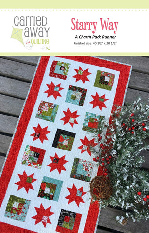 Starry Way Table Runner Quilt Pattern by Taunja Kelvington of Carried Away Quilting