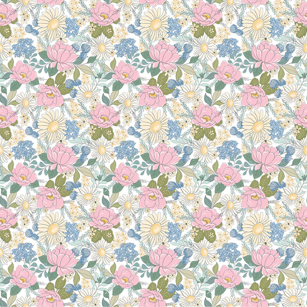 Country Roads White Country Roads Yardage by Poppie Cotton Fabrics