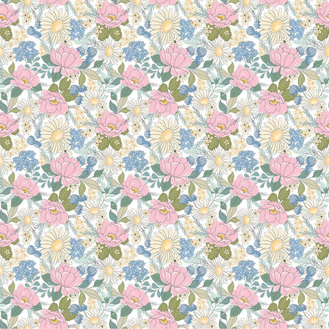 Country Roads White Country Roads Yardage by Lori Woods for Poppie Cotton Fabrics