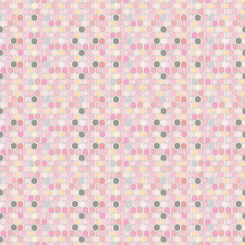 Country Roads Pink River Yardage by Lori Woods for Poppie Cotton Fabrics