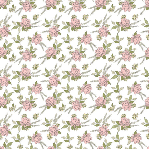 Country Roads White Shenandoa Yardage by Lori Woods for Poppie Cotton Fabrics