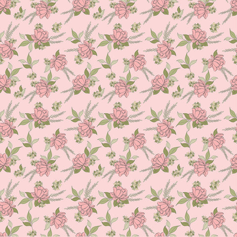 Country Roads Pink Shenandoa Yardage by Lori Woods for Poppie Cotton Fabrics