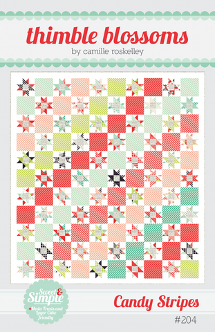 Candy Stripes Quilt Pattern by Thimble Blossoms