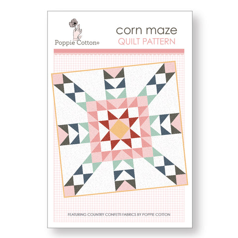 Corn Maze Quilt Pattern by Poppie Cotton Fabrics