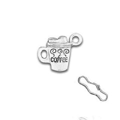 Cup of Coffee Zipper Pull or Sewing Charm