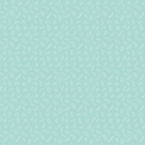 Cherished Moments Teal Dashwood Yardage by Lori Woods for Poppie Cotton Fabrics
