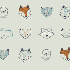 Little Forester Fusion Furries Forester Yardage by Bonnie Christine for Art Gallery Fabrics