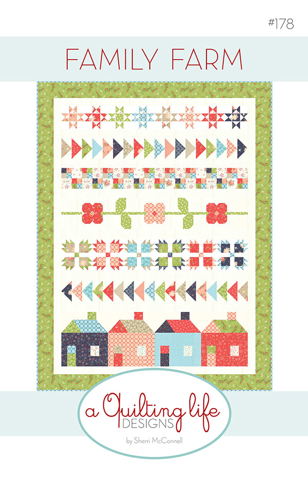 Family Farm Quilt Pattern by Sherri McConnell of A Quilting Life