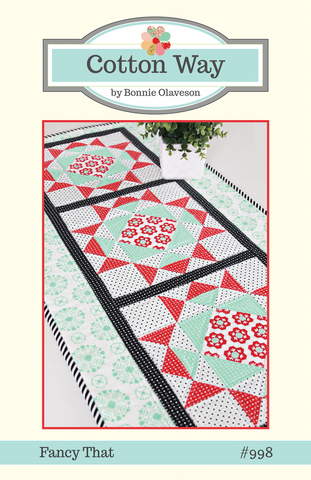 Fancy That Table Runner Pattern by Cotton Way